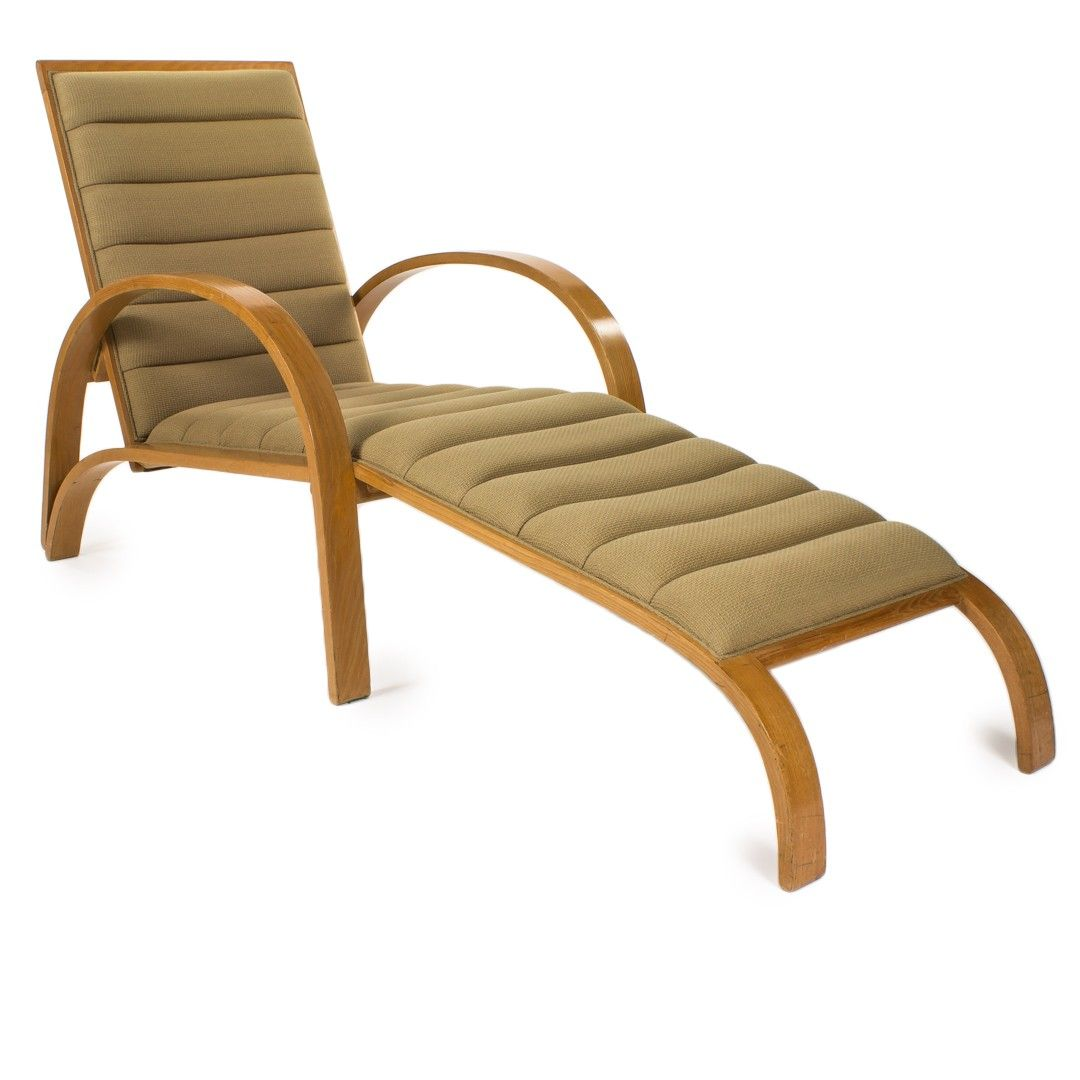 Original Ward Bennett Chaise Lounge for Brickel Assoc C.1960 at DecorNYC