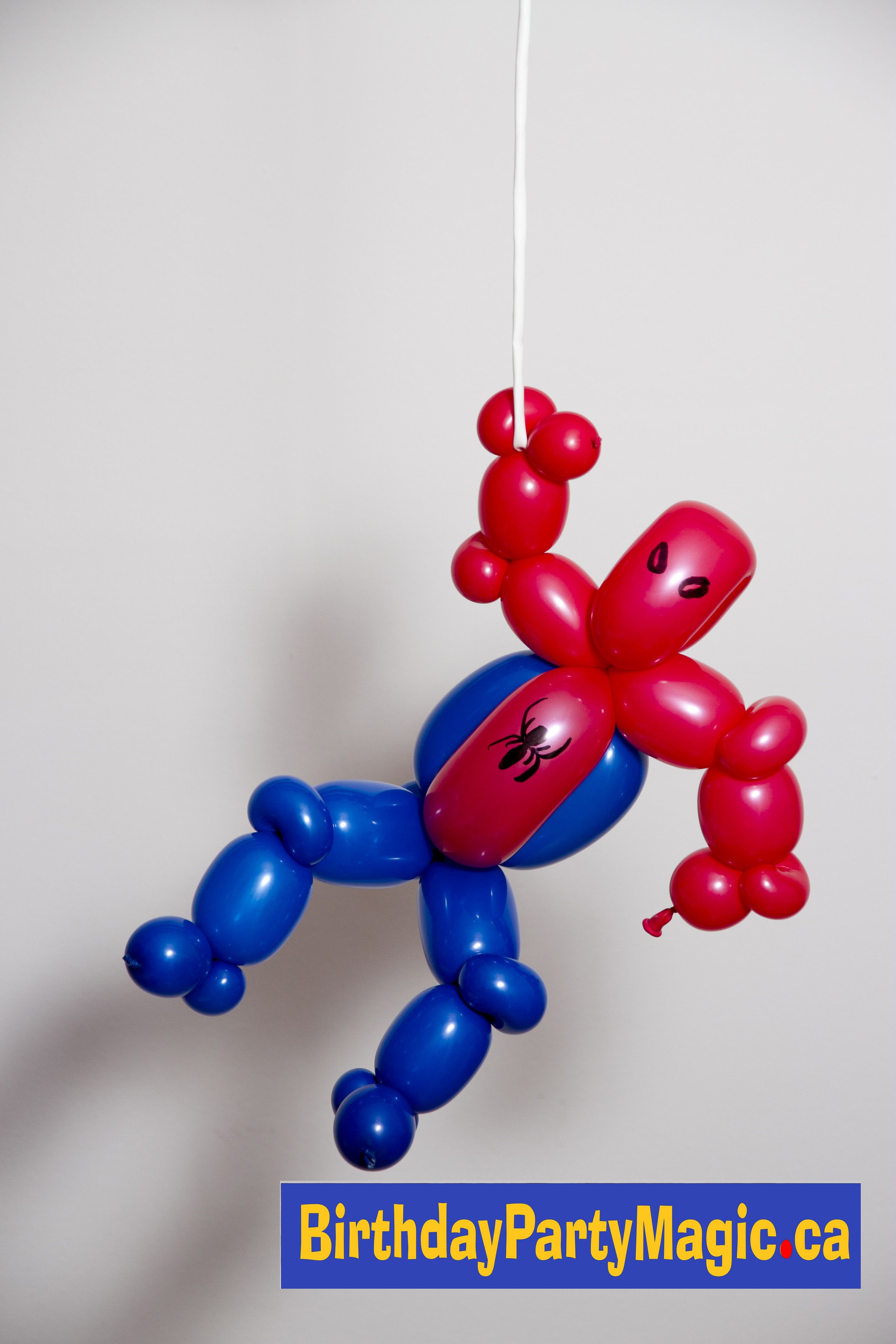 Watch out Here comes the Spiderman balloon B A L L O O N S