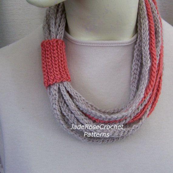 Crochet Rope Scarf Pattern Rope Scarf Pattern Crochet Rope Pattern