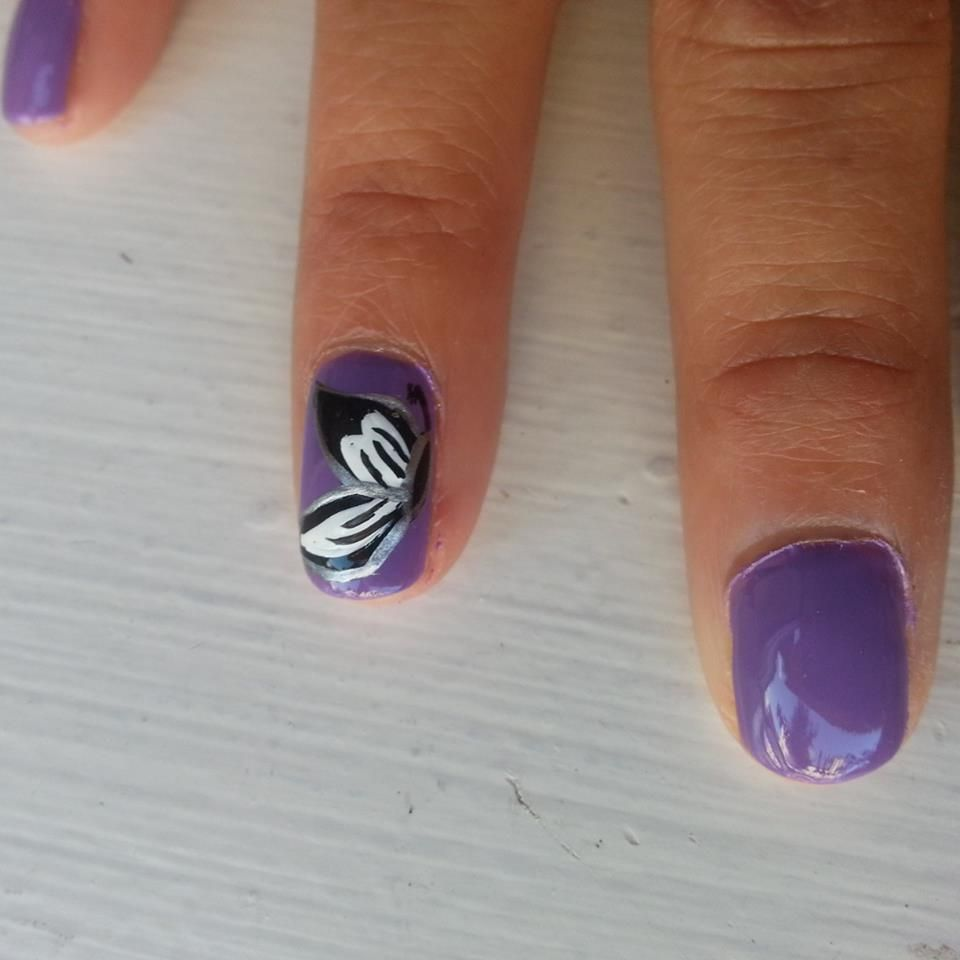 Butterfly , nail art designs, purple