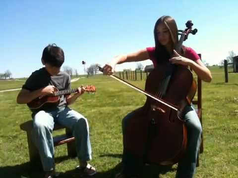 ▶ Over the Rainbow, cello/ukulele duet - YouTube