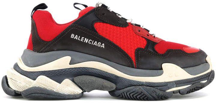 Balenciaga Triple S Red Black (Pre Distressed) | Sneakers