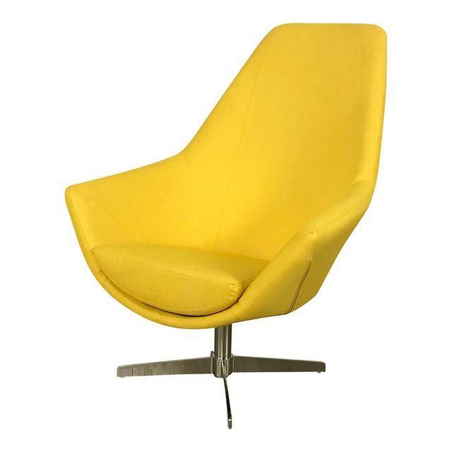 Swell Modani Modern Yellow Lounge Chair Project Nyc Apt 72Nd Onthecornerstone Fun Painted Chair Ideas Images Onthecornerstoneorg