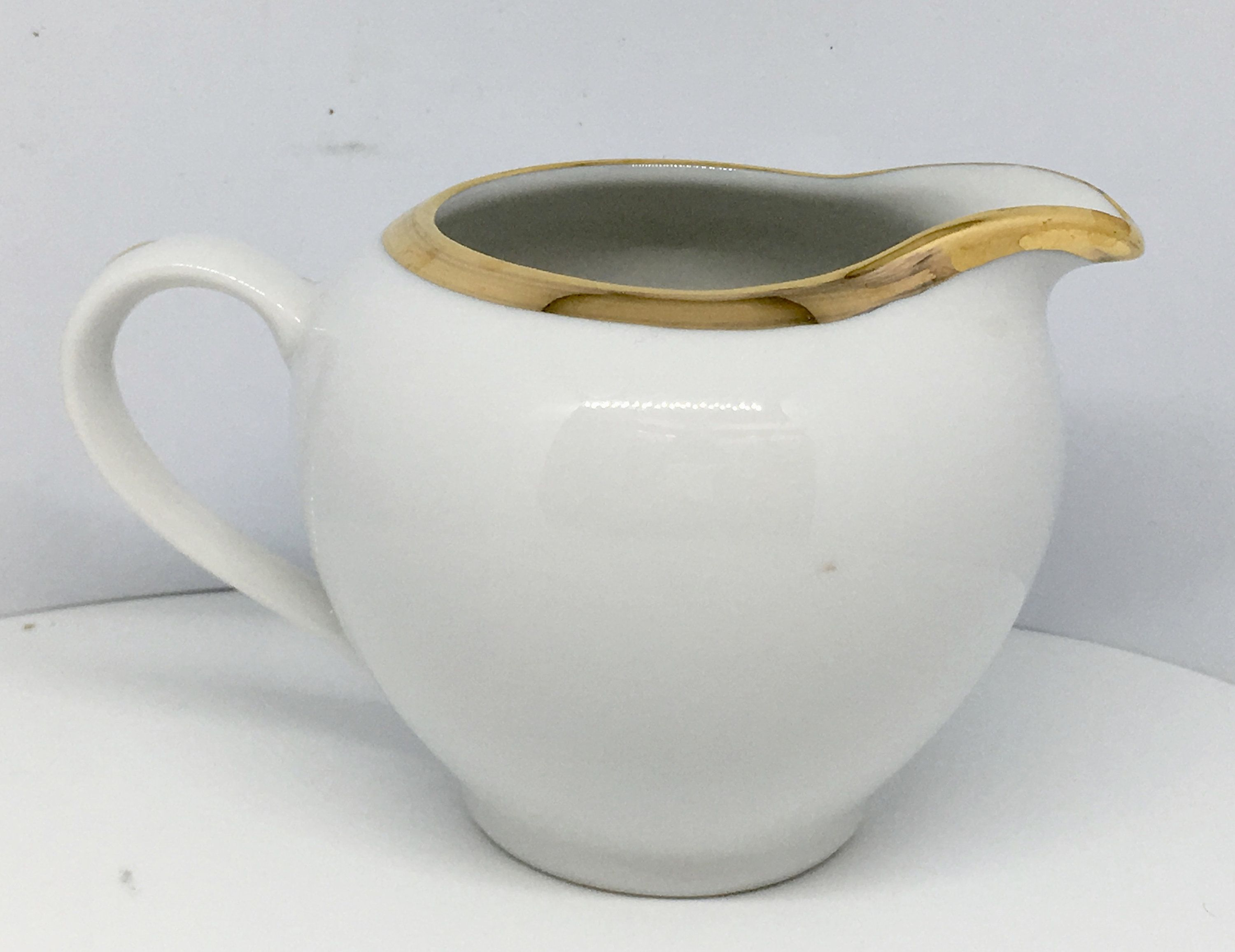 The Cellar Monno Bangladesh 1995 White With Gold Trim Round Creamer Small Pitcher White And Gold Vase By Clittleshop On E Vintage Dishes Gold Vases Creamer