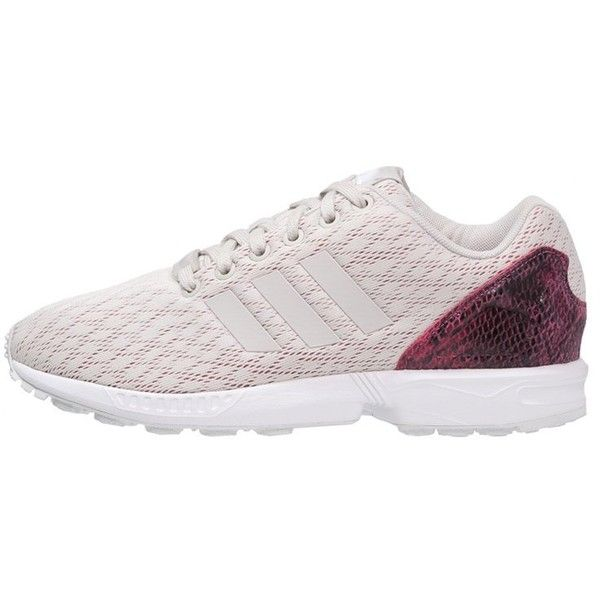 adidas Originals ZX FLUX Trainers pearl grey joy pink (€105) via Polyvore 8cfa1f40c