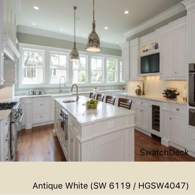 A great yellowed white for that classic look. Antique White SW 6119 ...