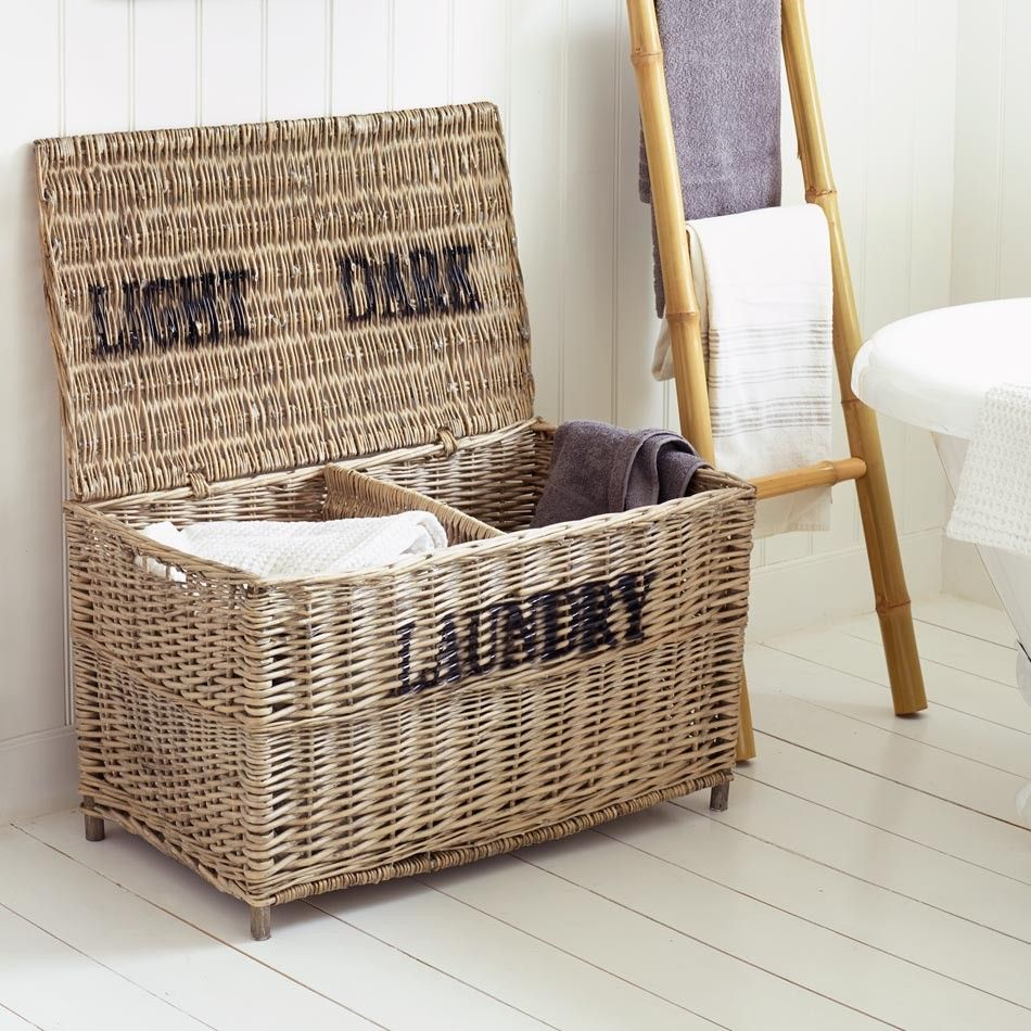 Wicker Laundry Basket Storage Home Accessories Home