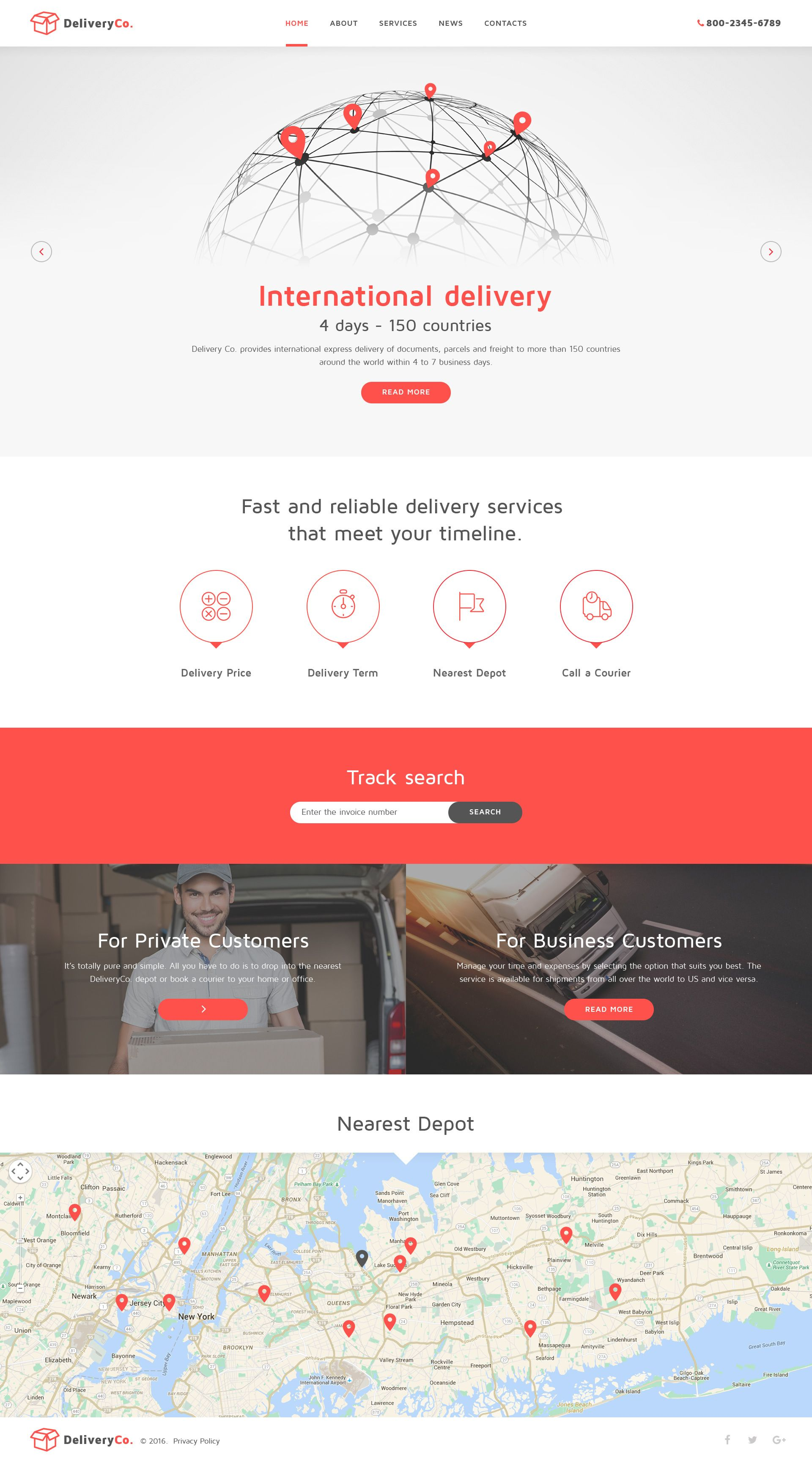 Delivery Services Website Template HttpWwwTemplatemonsterCom