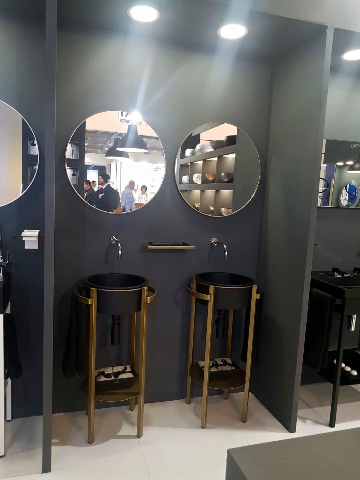 Lavabo TONDO PLUS Et Miroir METAL TONDO. Présentation