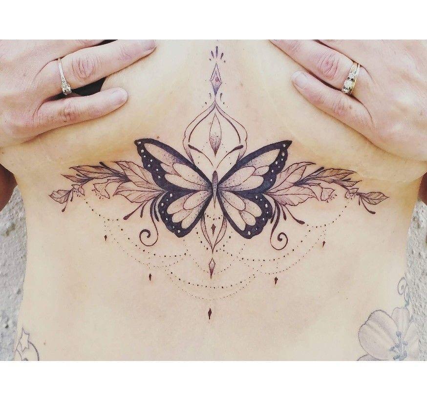 Butterfly Sternum Tattoo | Tattoo Ideas and Inspiration