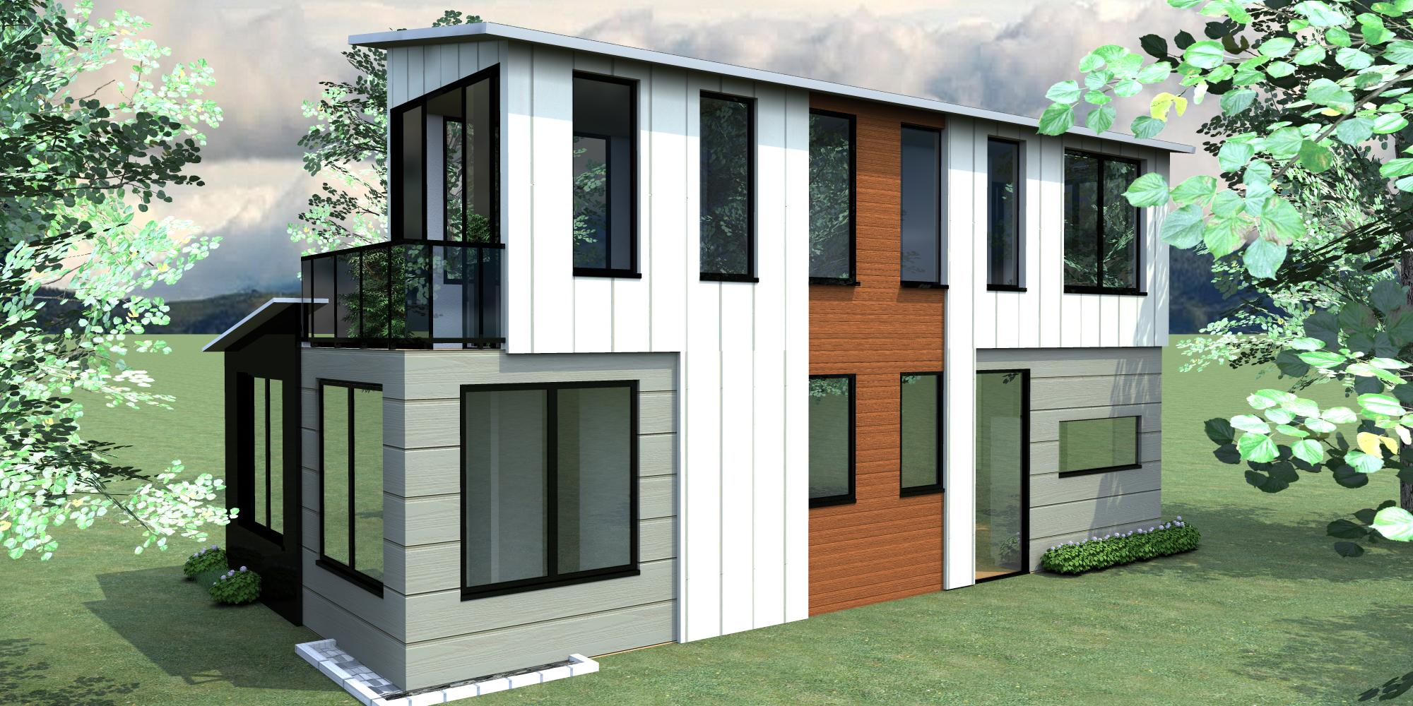 Modelo Casas FARALLONES. Vivienda contemporánea para el campo o la ...