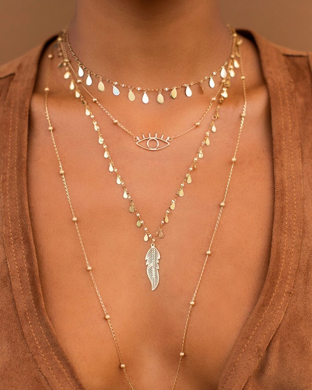 Minimalist Silver Hollow Leaves Pendant Chain Collar Necklace Women Chic Jewelry