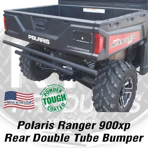 SuperATV REAR Extreme Bumper with Side Bed Guards for Polaris Ranger Full Size XP 570//900 Crew Wrinkle Black