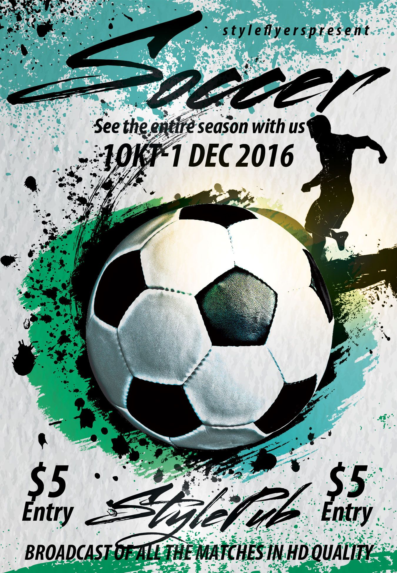 Soccer FREE PSD Flyer Template Free Download 11795 Free