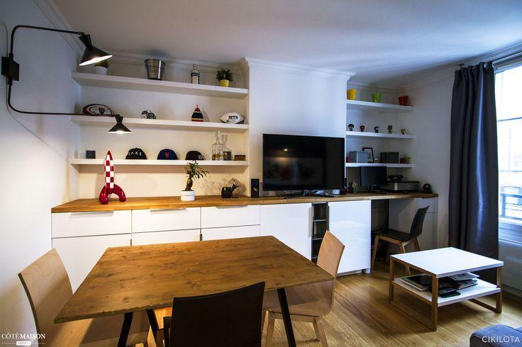 appartement de 30m enti rement r nov objectif optimiser l 39 espace et apporter du cachet. Black Bedroom Furniture Sets. Home Design Ideas