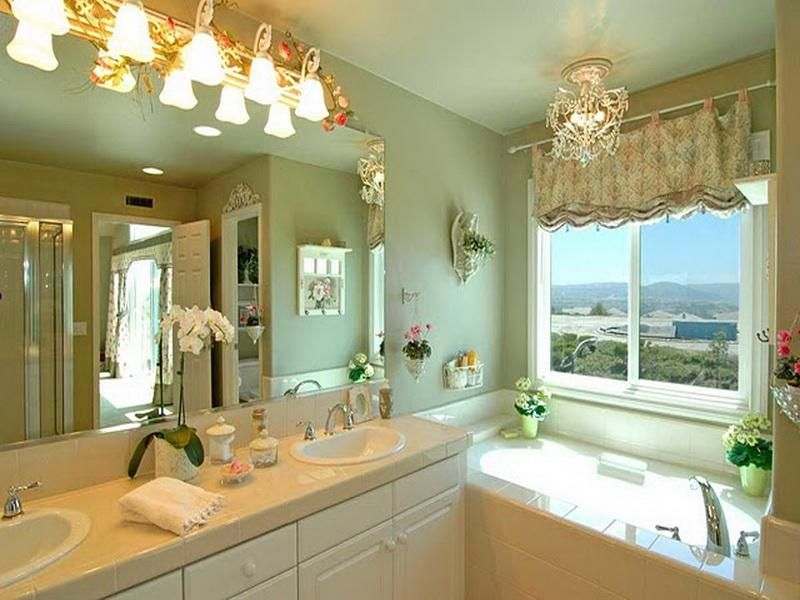 The sage green bathroom decor up there is used allow the ...