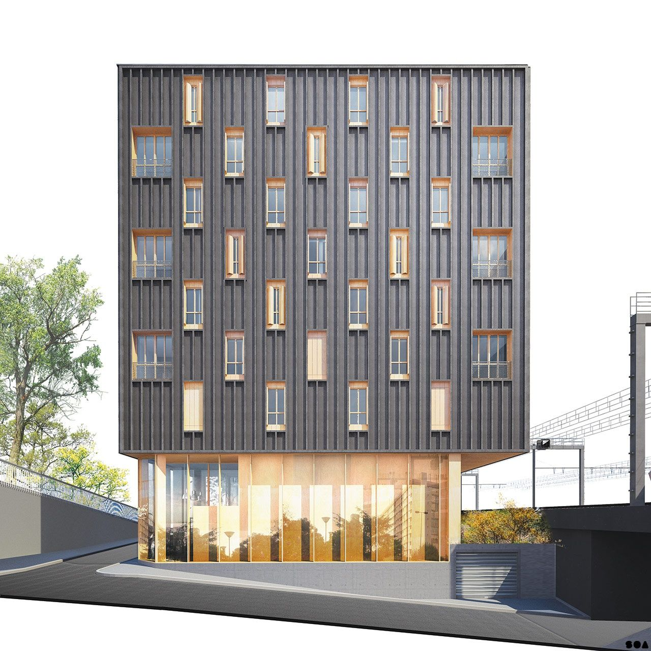 Soa architectes paris projets logements gergovie s6 for Architecture contemporaine paris