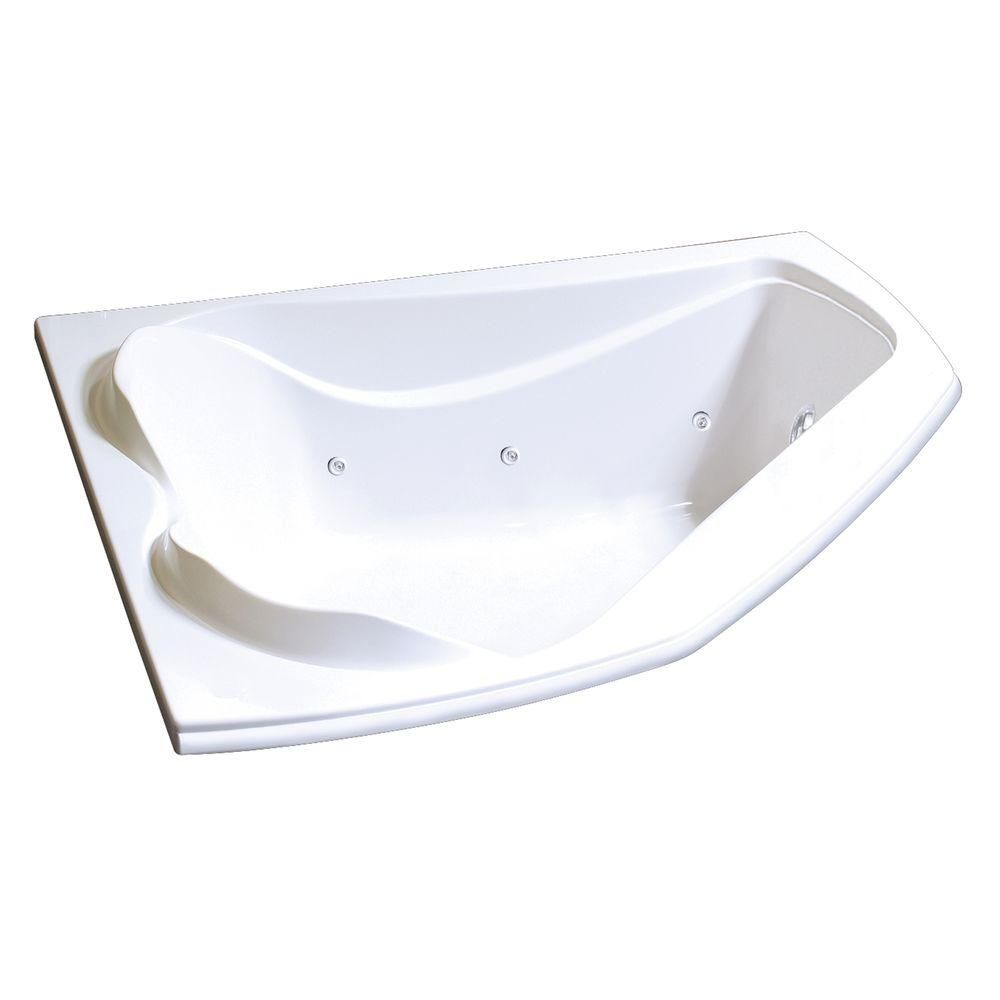 MAAX Cocoon 5 ft. Whirlpool Tub in White | Tubs and Products