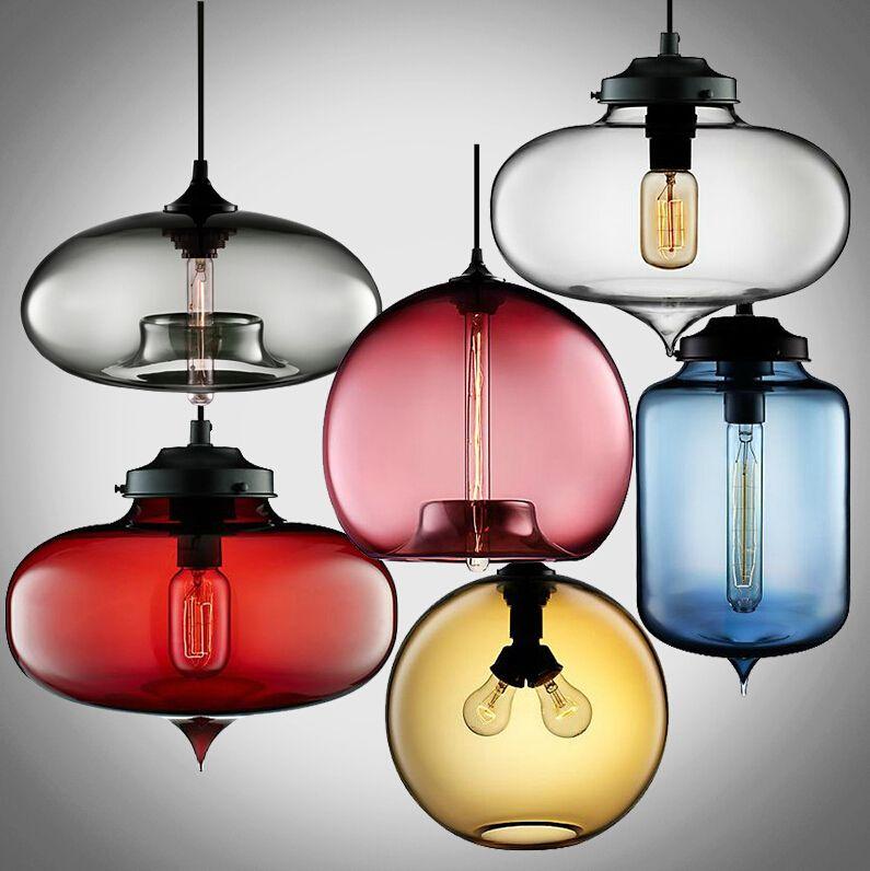 vintage multicolors crystal glass pendant lights for living room ...