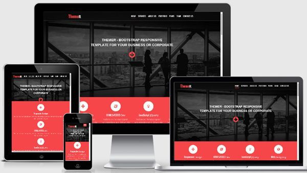free download themer bootstrap responsive web template