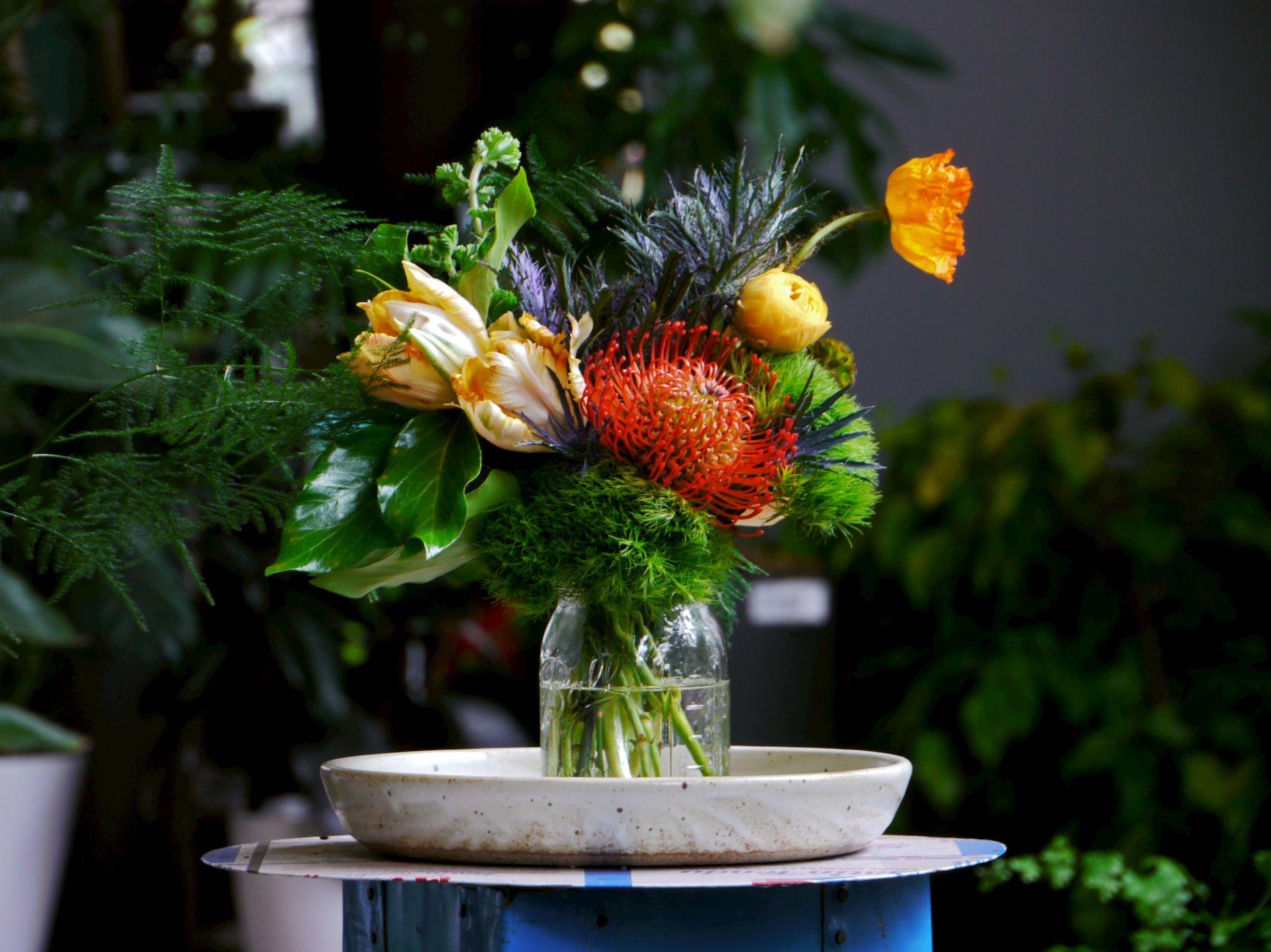 Orange traditional wedding decor  Arrangement No   Wedding  Pinterest  Floral arrangement and