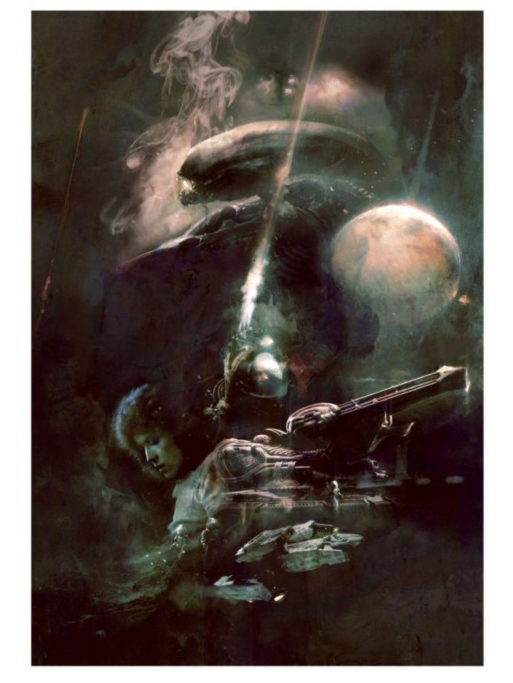 Una selección de cartelería xenomorfa (y con Sigourney Weaver) reunida para celebrar el 'Alien Day'.