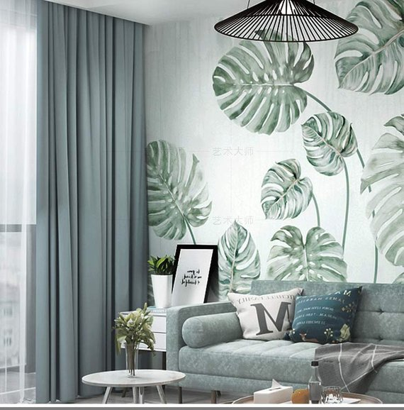 Oil Painting Hand Painted Tropical Green Leaves Plant Wall Etsy Wallpaper Walls Decor Wall Wallpaper Cleaning Walls Choose your favorite tropical leaves paintings from millions of available designs. oil painting hand painted tropical
