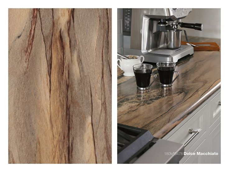180fx® laminate - 3478 Dolce Macchiato on a kitchen island with ...
