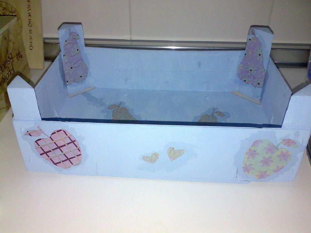 Cajas de fresas recicladas cajas de frutas pinterest - Manualidades con cajas de madera de frutas ...
