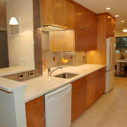 Download Wallpaper White Kitchen Appliances With Oak Cabinets
