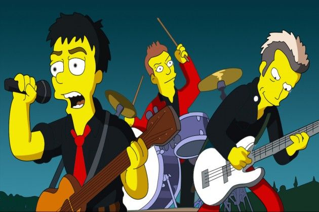 12 Best Rock Star Cameos On The Simpsons The Simpsons The Simpsons Movie Green Day