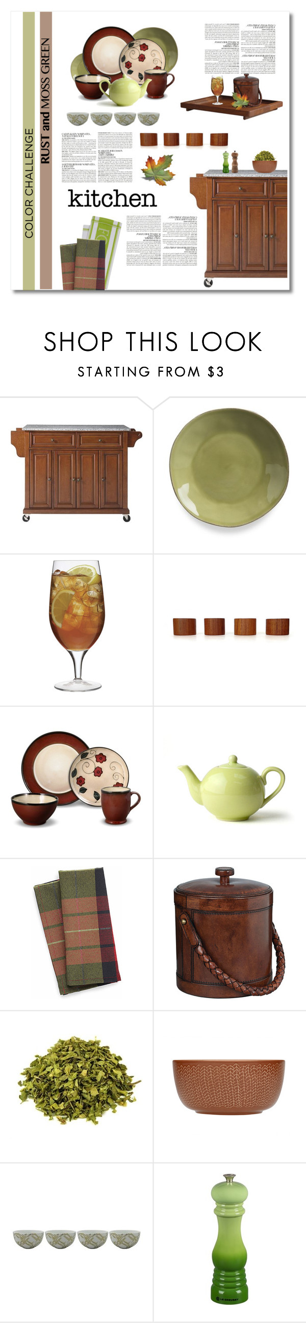 """""""color challenge : moss green and rust"""" by limass ❤ liked on Polyvore featuring interior, interiors, interior design, home, home decor, interior decorating, McGinn, Home Decorators Collection, Crate and Barrel and Luigi Bormioli"""