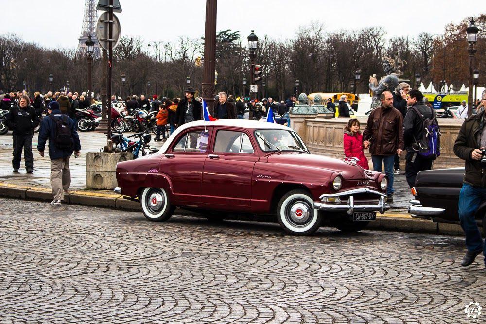 #Simca #Aronde à la Traversée de #Paris hivernale 2016. Reportage complet : http://newsdanciennes.com/2016/01/10/grand-format-traversee-de-paris-hivernale-2016/ #Vintage #VintageCar #Voiture #Ancienne