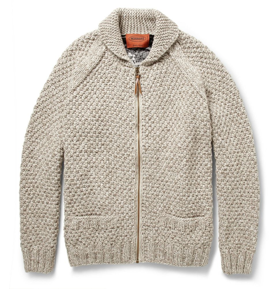 Missoni Patterned Chunky-Knit Wool Zipped Cardigan | MR PORTER ...
