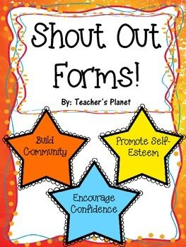 Free Shout Out Forms Responsive Classroom Teaching Classroom Classroom Culture