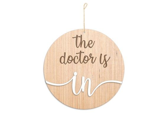 Custom The Doctor is In / The Doctor is Out Sign / Doctor's Office Sign / Hospital Decor / Offic