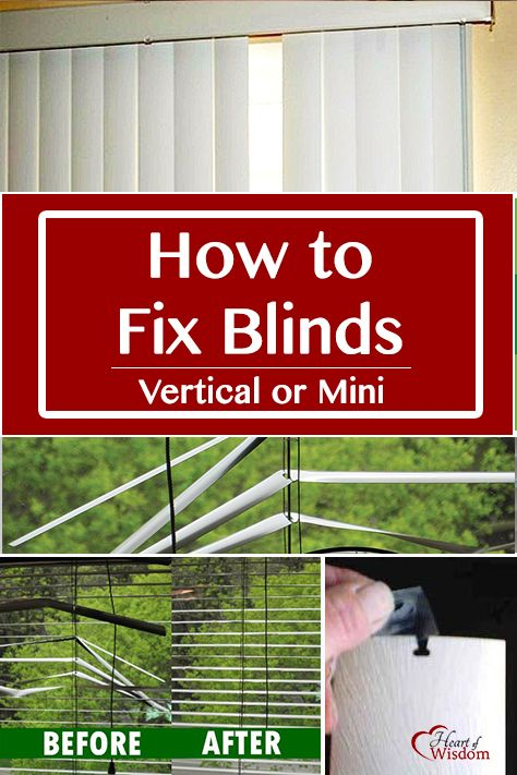 How To Fix A Broken Window Blind Blind Repair Blinds For Windows How To Fix Blinds