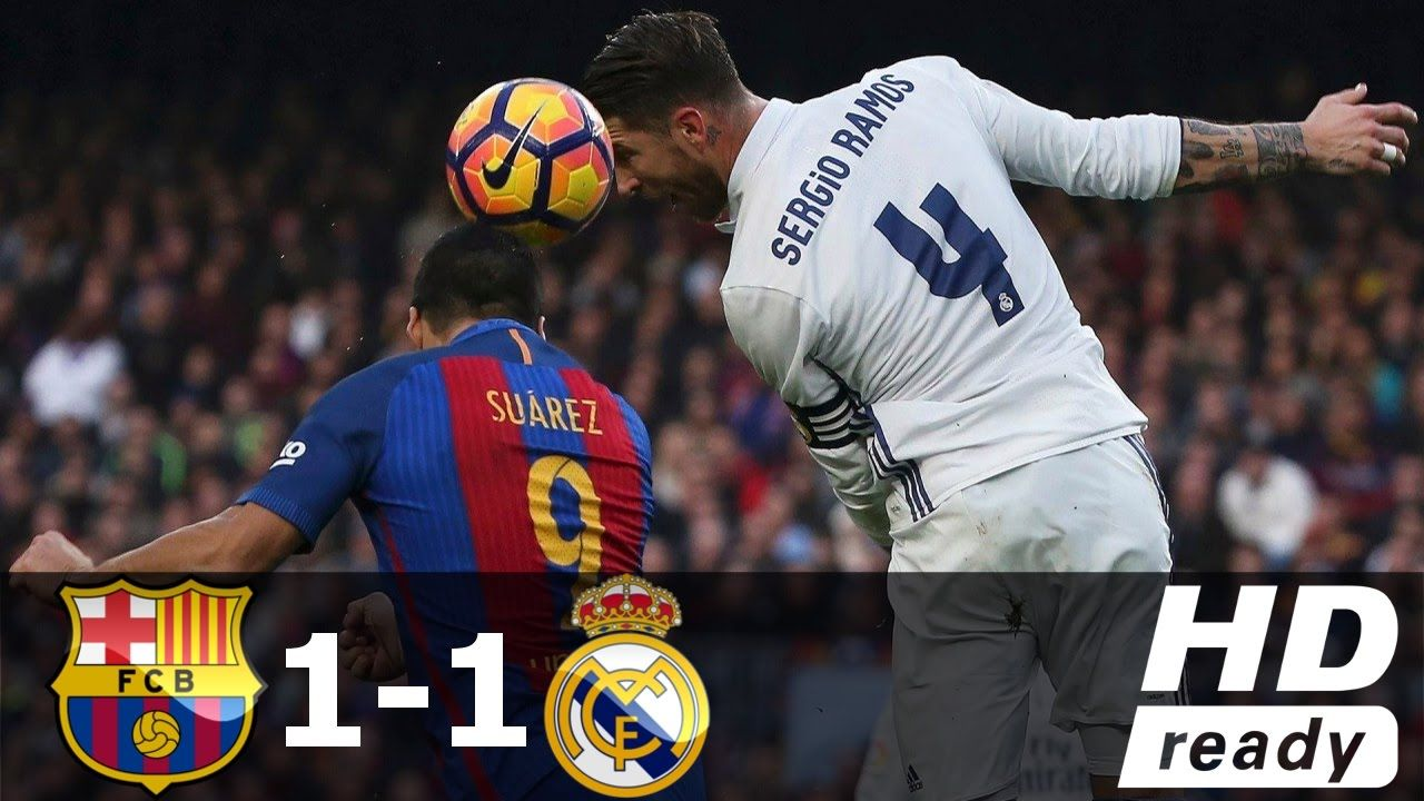 Barcelona Vs Real Madrid 1 1 All Goals Extended Highlights