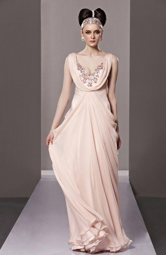 Deep V-neck A-line Floor-length Quick Delivery Dress - Quick ...
