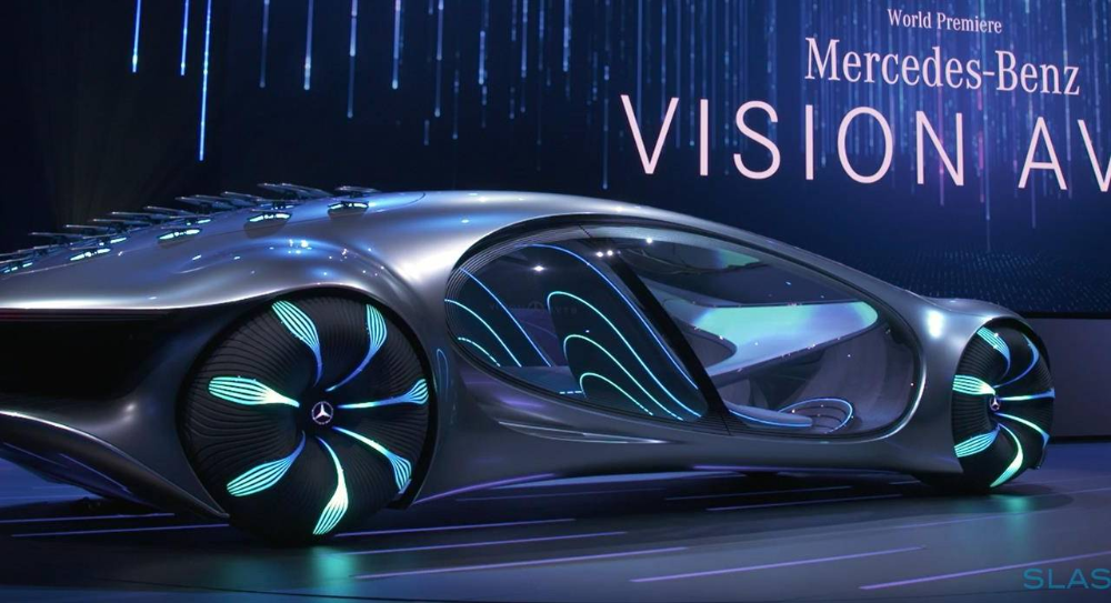 Mercedes Vision Avtr Is A Wild Concept Car Inspired By Avatar Slashgear In 2020 Concept Cars Mercedes Benz Mercedes