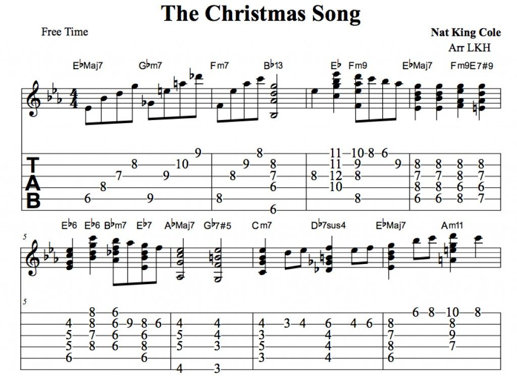 The Christmas Song Chestnuts Roasting On An Open Fire Arranged For