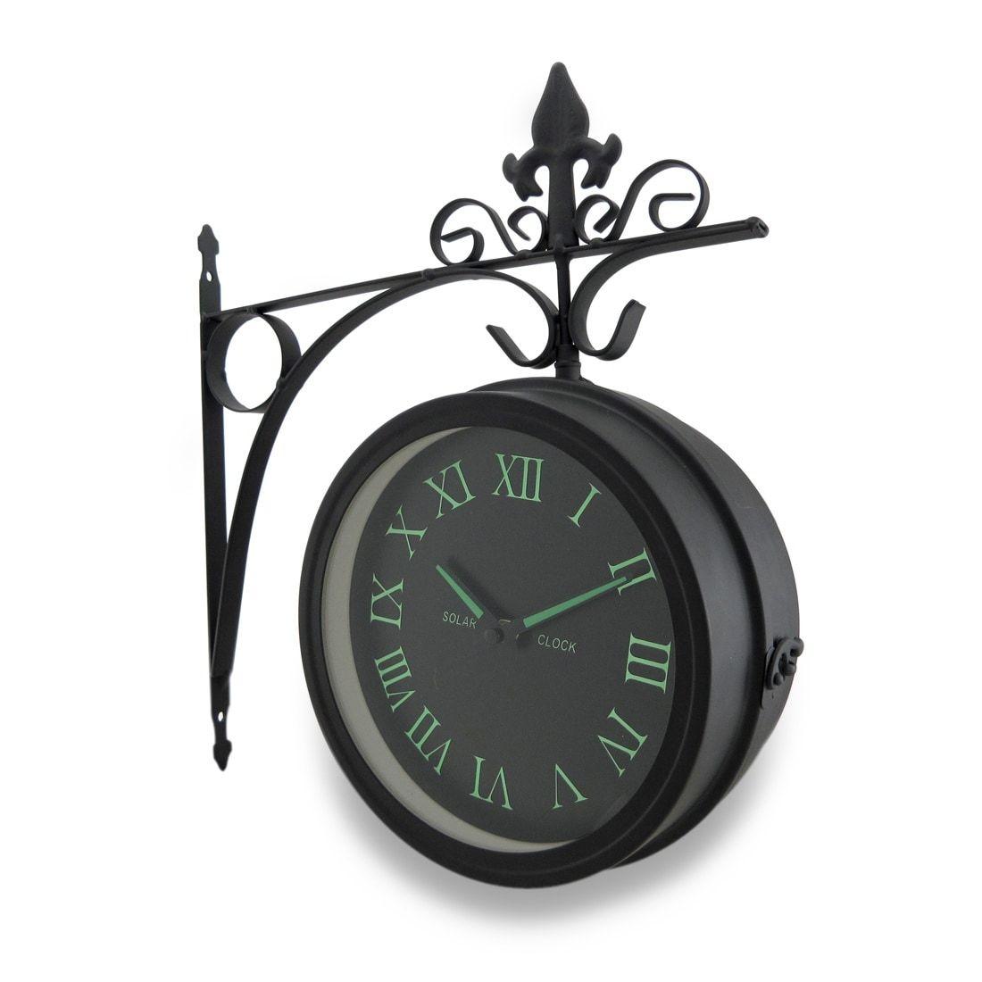 Double Sided Glow In The Dark Wall Clock W/Decorative