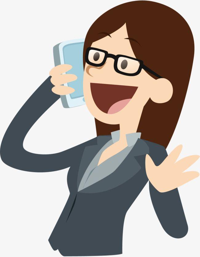Vector llamada mujer de negocios, Diagrama Vectorial, Diferente ...