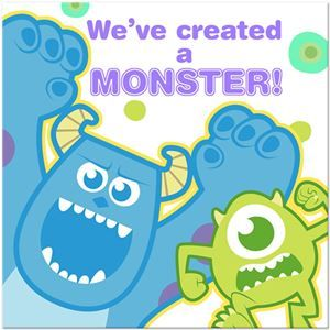 1st Birthday Monsters Inc Lunch Napkins 16ct