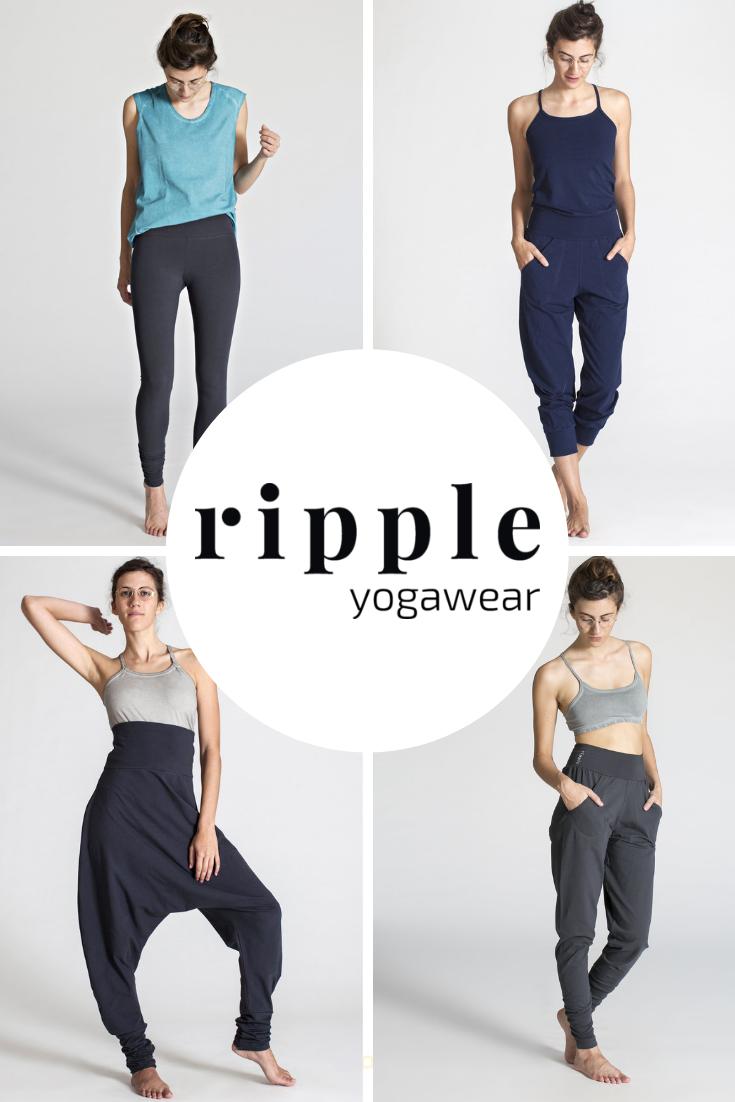 Ripple Yogawear Ripple Offers A Line Of Yoga Wear Made From Organic Cotton Yoga Wear Brands Yoga Wear Uk Clothing