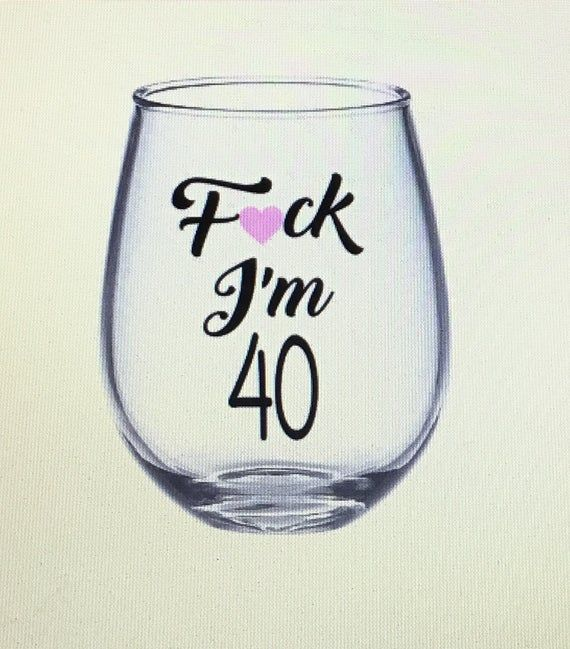 40th wine glass. 40th birthday gift. 40th gift. 40 wine glass. 40 gift. 40 birthday gift. 40 and fabulous wine glass. Fabulous at 40 glass