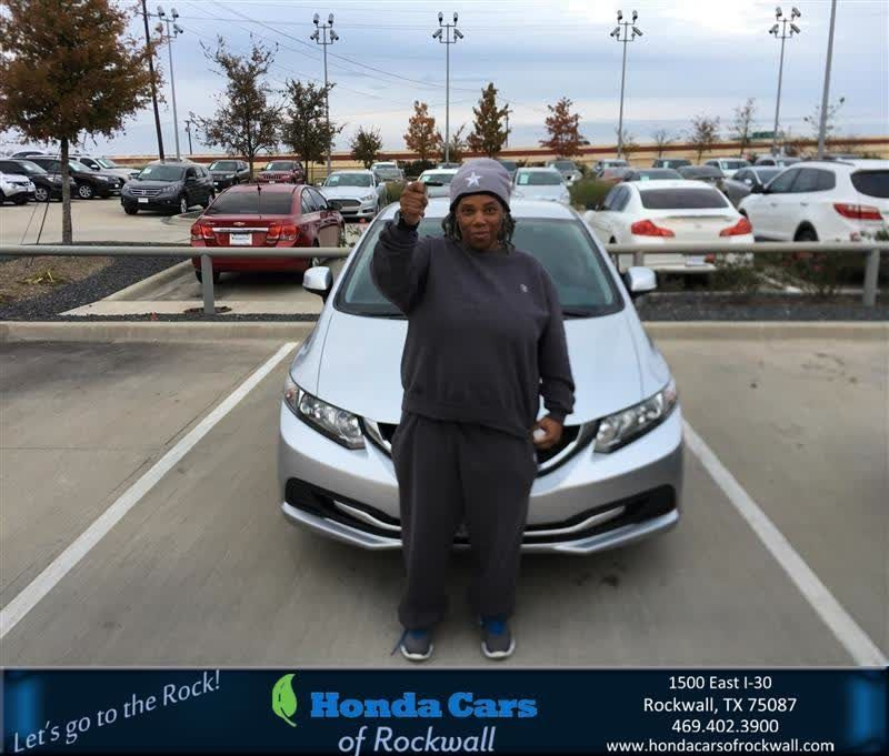 Congratulations Regina On Your Honda Civic Sdn From Christian Contreras At Cars Of