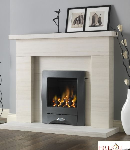 Pureglow Drayton Limestone Fireplace Suite Surround