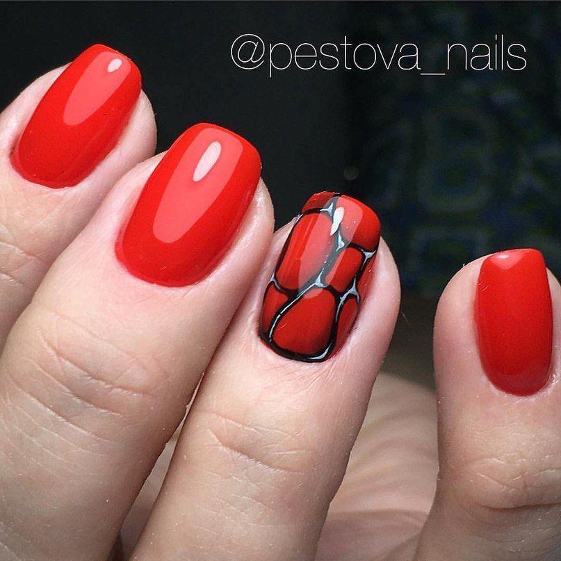 маникюр - дизайн ногтей | Маникюр | Pinterest | Red nails, Manicure ...