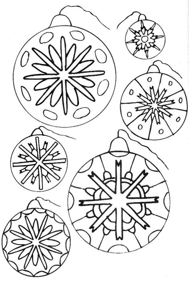 Dibujos para imprimir y colorear: Bolas de Navidad para colorear ...